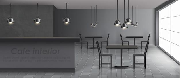 Modern cafe banner Free Vector