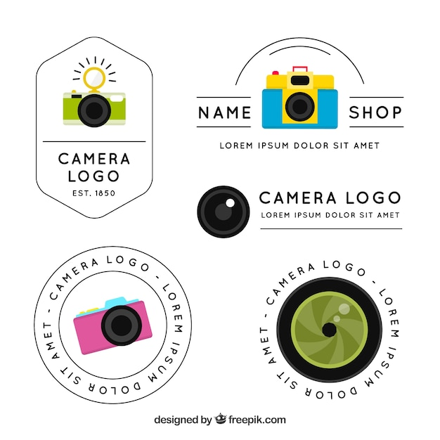 Modern camera logo collection