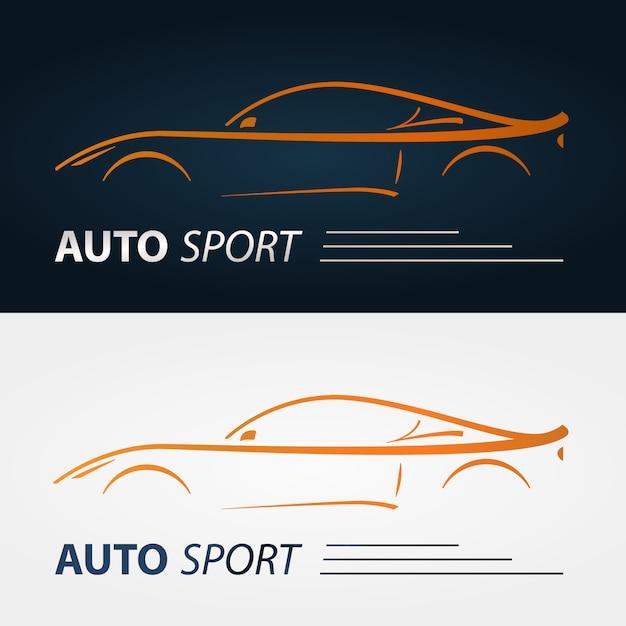 Modern car emblems. Premium Vector