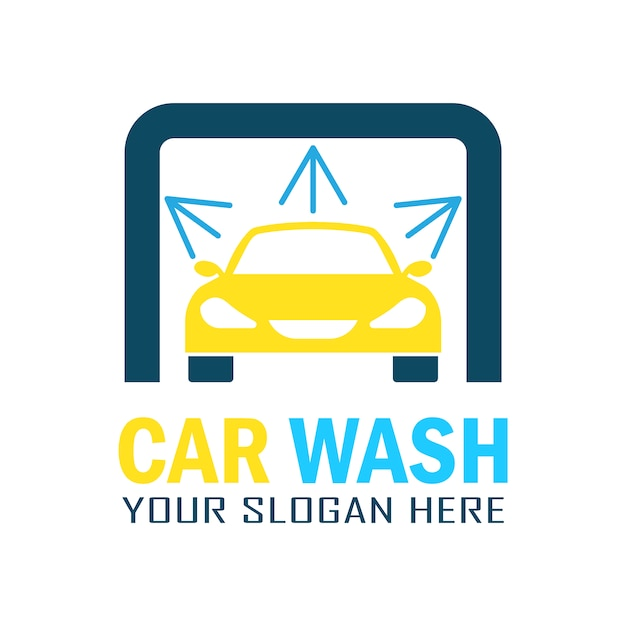 Modern car wash logo design Premium Vector