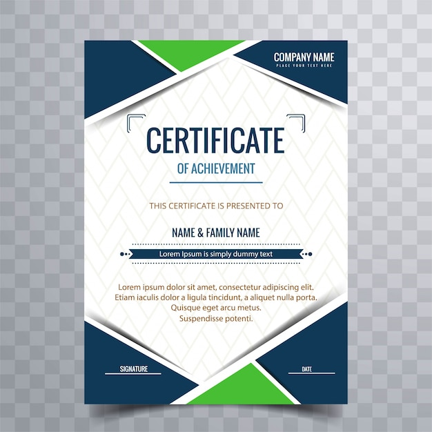Modern Certificate Background Vector Premium Download
