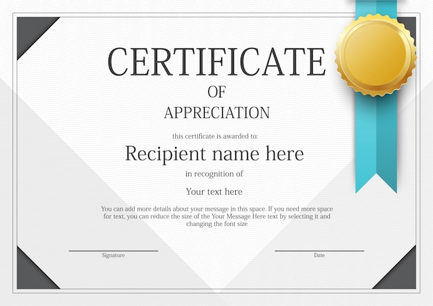 Award certificate vectors photos and psd files free download modern certificate border template yadclub Gallery
