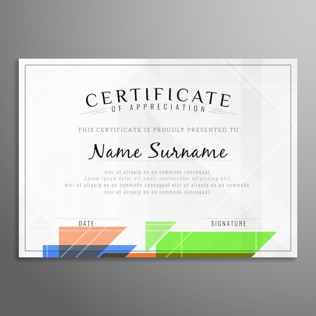 Modern certificate design Vector | Free Download