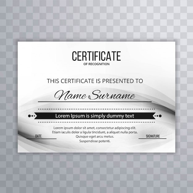 Modern certificate template design Vector | Free Download