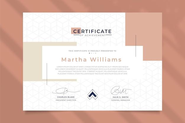 Современный шаблон сертификата геометрический стиль Бесплатные векторы
