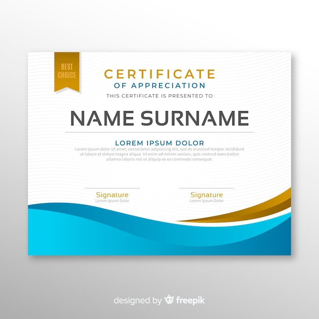 Modern Certificate Template In Abstract Style Vector Free Download