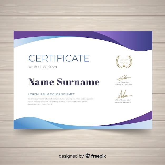 Modern Certificate Template Vector Free Download