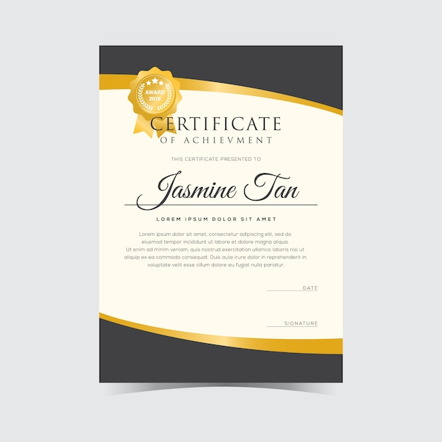Modern Certificate Vector Template Vector Premium Download