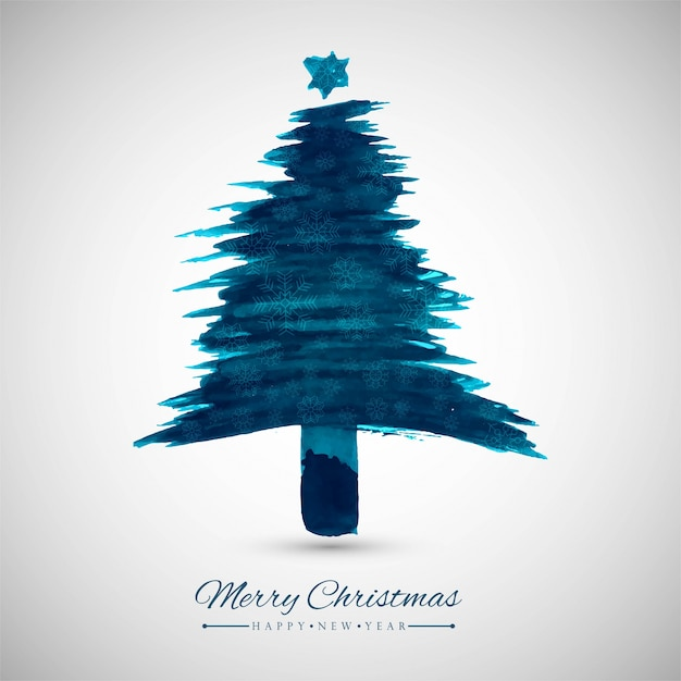 Modern Christmas tree background Vector | Premium Download