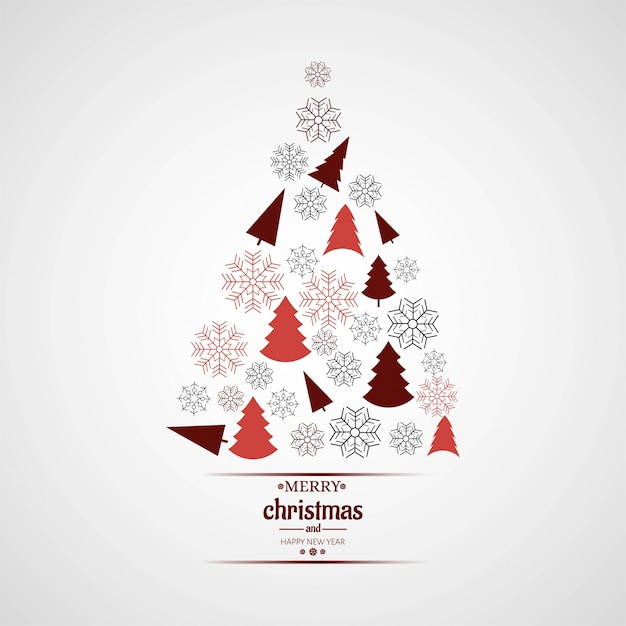 Modern christmas tree background Vector | Free Download