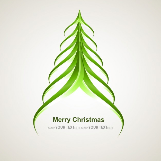 Modern Christmas tree Vector | Free Download