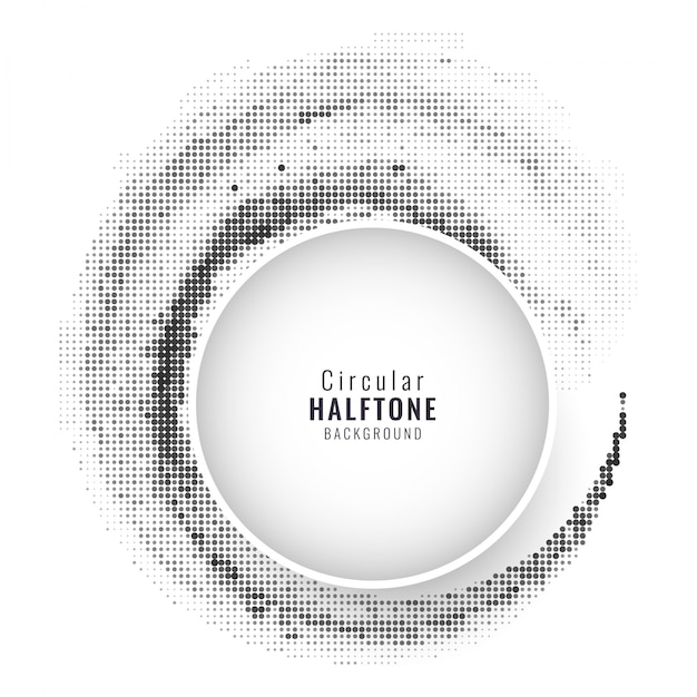 Modern circular background with halftone dots