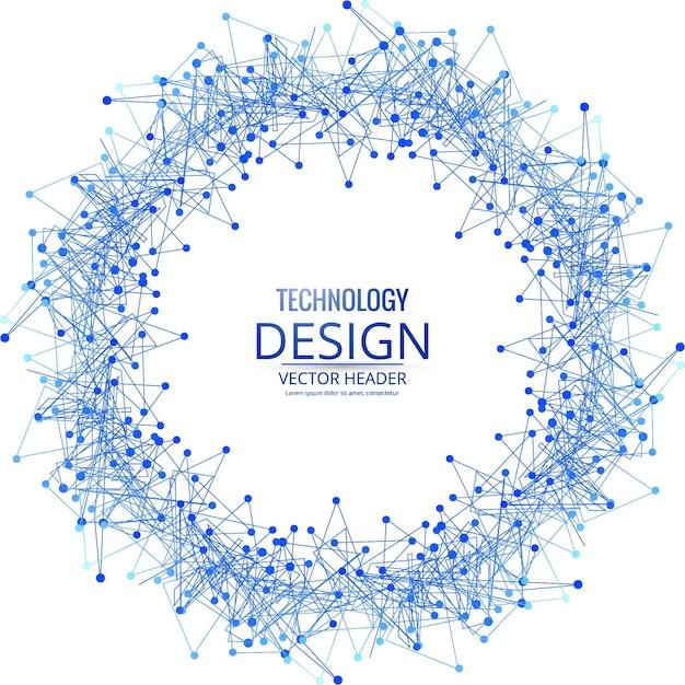Modern circular technology background