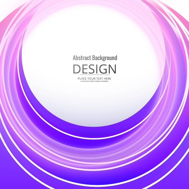 Modern circular violet background