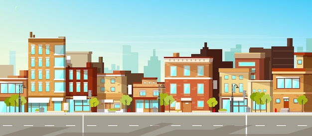 Modern city buildings Free Vector