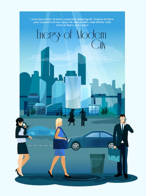 Modern cityscape background Free Vector
