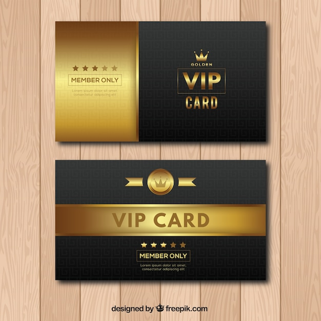 Modern Cllection Of Vip Cards With Vintage Style  Membership Card Design