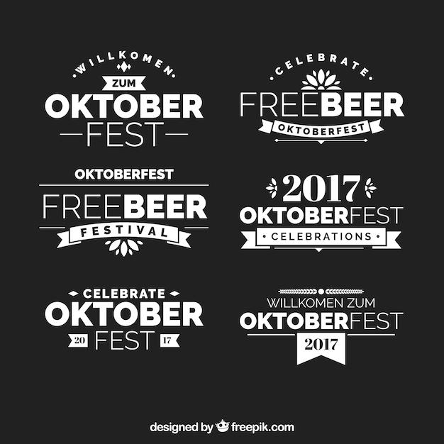 Modern collection of elegant oktoberfest badges