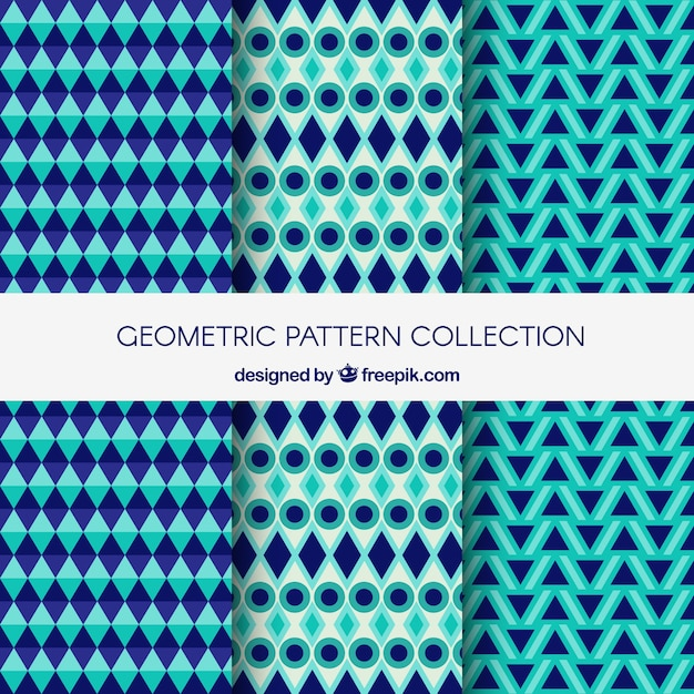 Modern collection of geometric pattern backgrounds