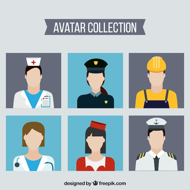Modern collection of professions avatars