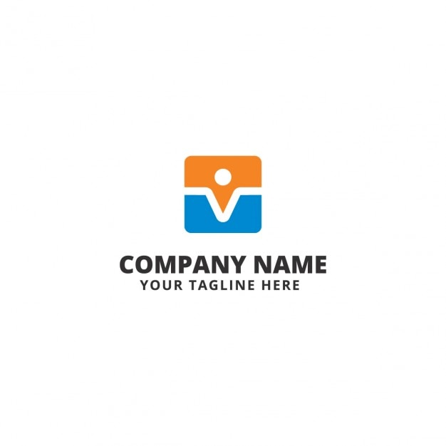Modern colored company logo