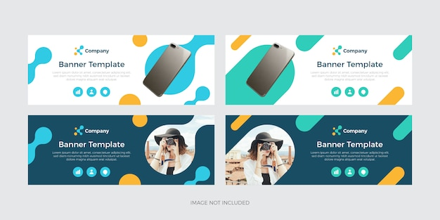 Modern colorful banner template Premium Vector