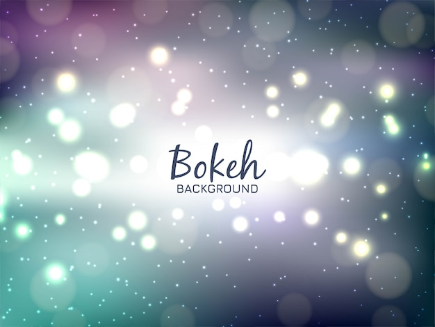 Modern colorful bokeh background Free Vector
