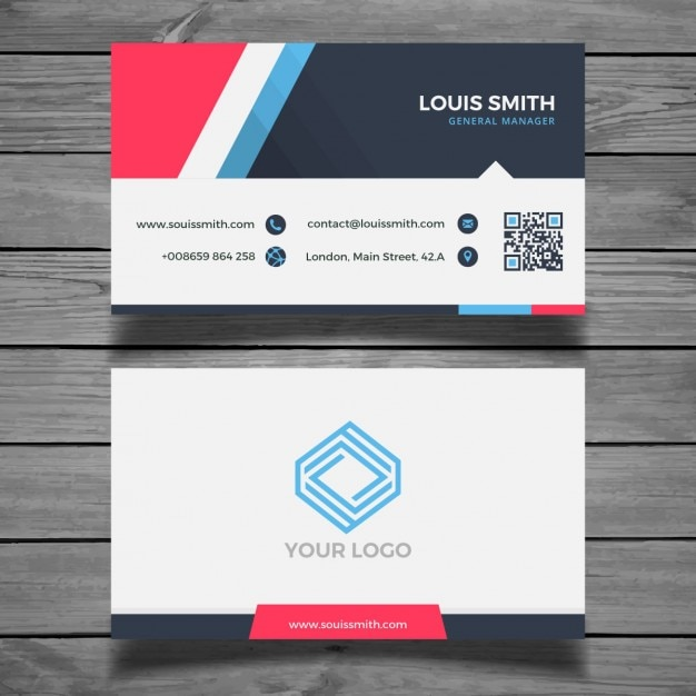 modern colorful business card template vector free download