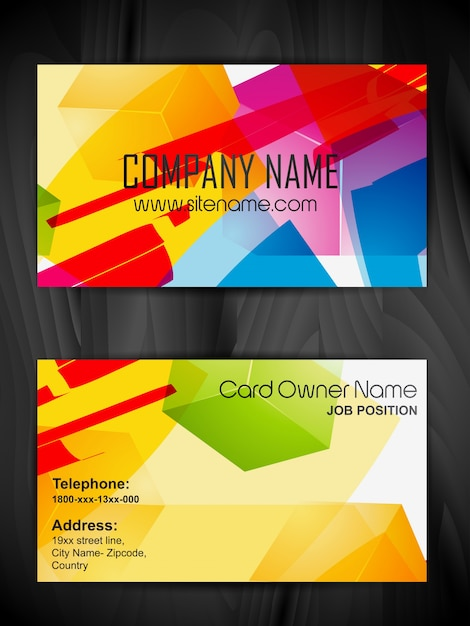 Modern colorful business card template Vector | Free Download