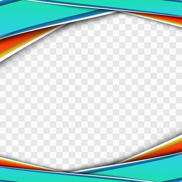 Modern colorful business wave transparent design vector Free Vector