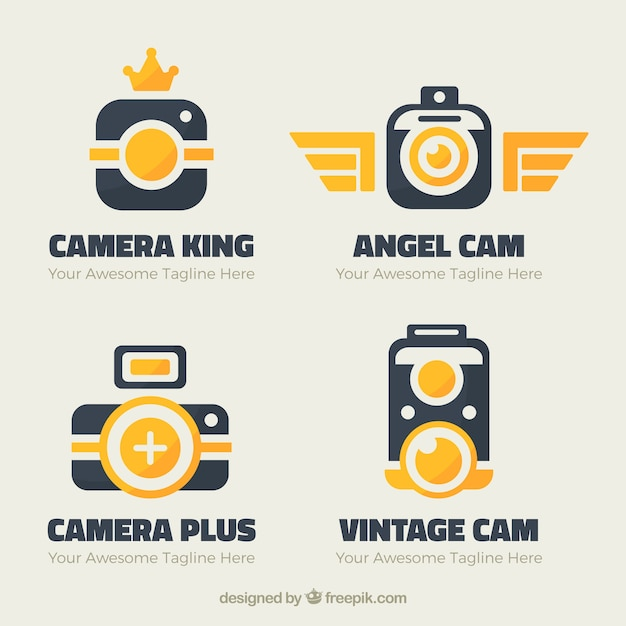Modern colorful camera logo collection