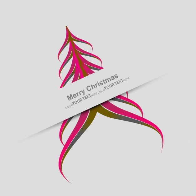 Modern Colorful Christmas tree Vector | Free Download