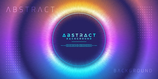 Modern colorful circle background. Premium Vector
