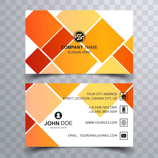 Modern Colorful Creative Visiting Card Background Free Vector