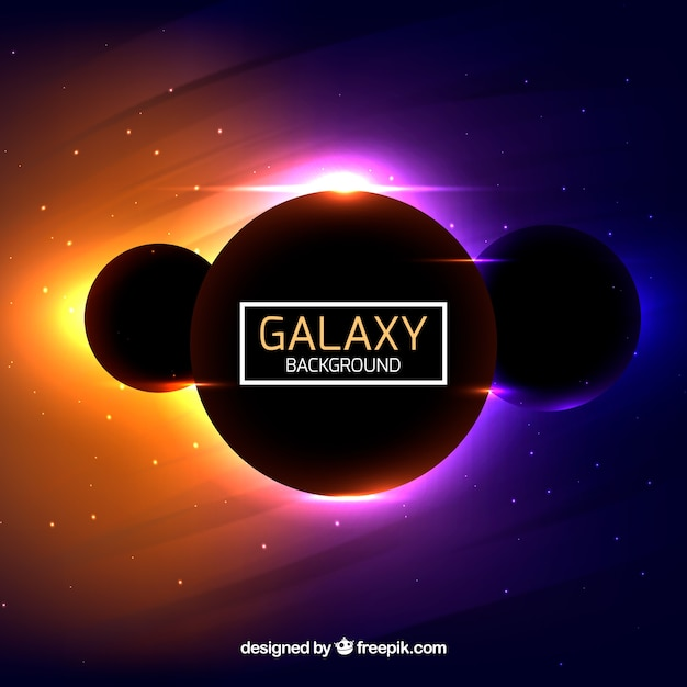 Modern colorful galaxy background