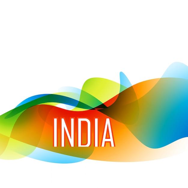 Modern colorful indian flag design