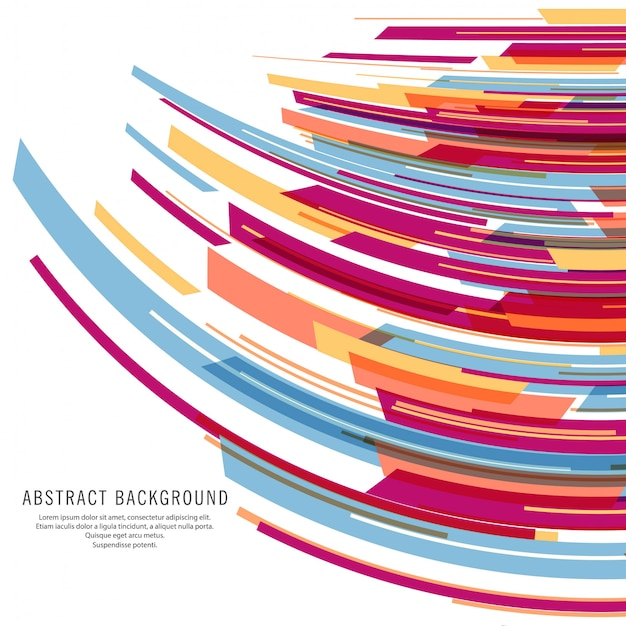 Modern colorful lines wave background vector Free Vector