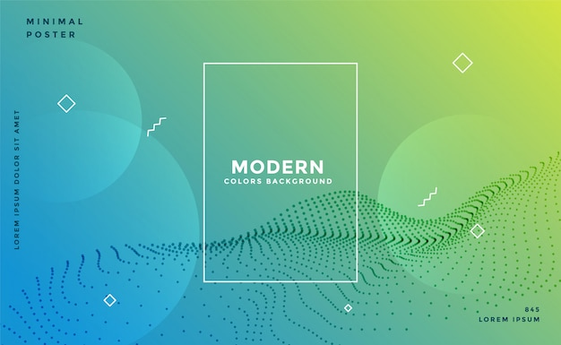 Modern colorful memphis particle background Free Vector