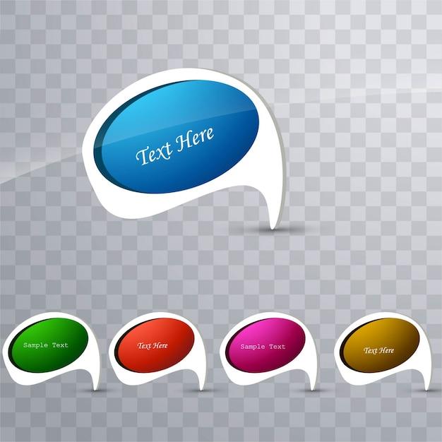 Modern colorful speech bubbles