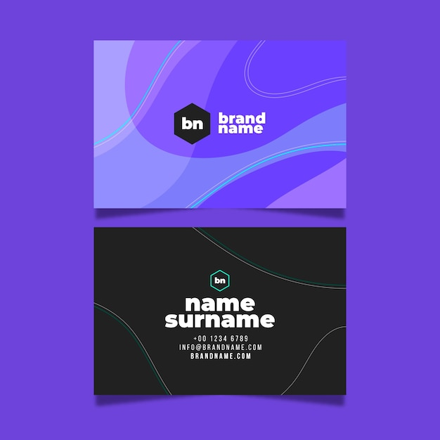 Modern colorful visiting card template Free Vector