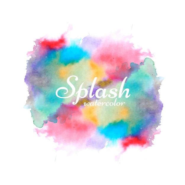 Modern colorful watercolor splash design vector Free Vector