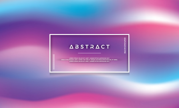 Modern colorful wave, abstract flow background Premium Vector