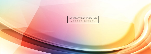 Modern colorful wave background Free Vector