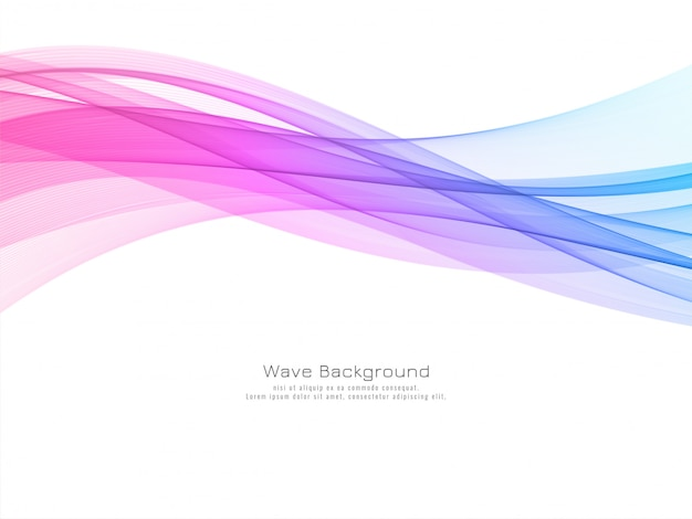 Modern colorful wave decorative background vector Free Vector