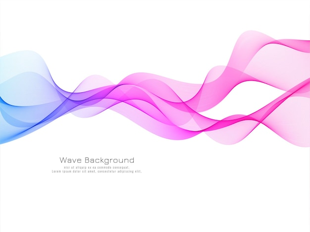 Modern colorful wave decorative background Free Vector