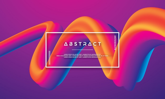 Modern colorful wave, flow liquid background Premium Vector