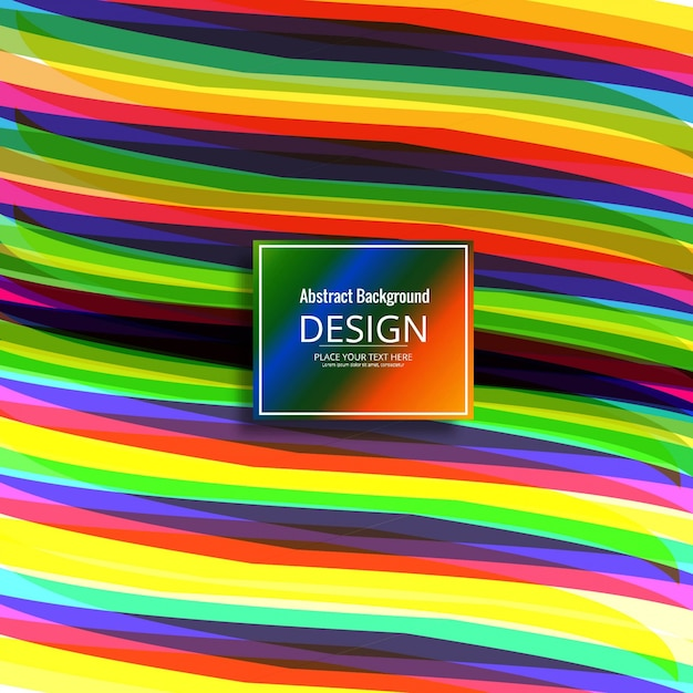 Modern colorful waves background