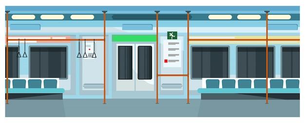 Modern comfortable subway train illustration Free Vector