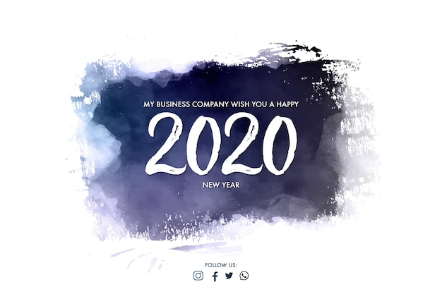 Modern company banner for happy new year Free Vector