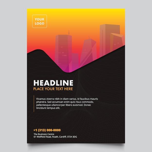 Modern company brochure design Free Vector